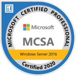 MCSA Windows Server 2016 - Click to Verify